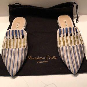 Massimo Dutti multi color stitched detailing .